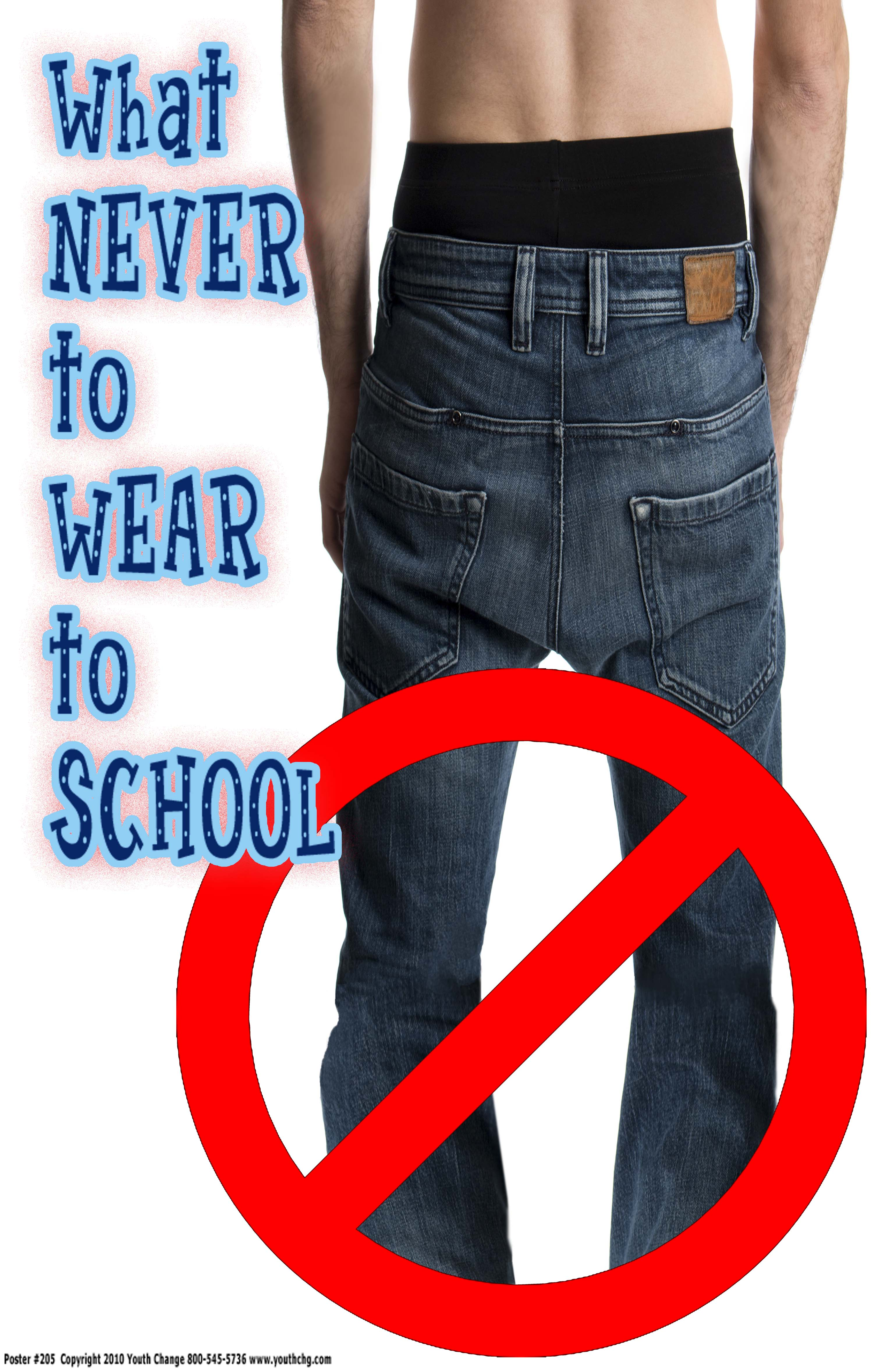 sagging pants rules poster
