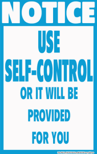 self-control poster